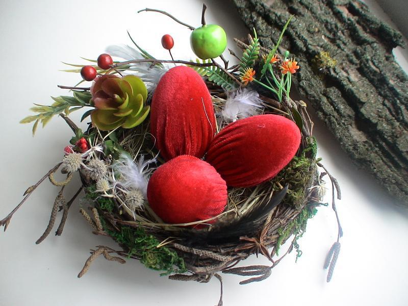 Декор к пасхе. Пасхальное гнездо