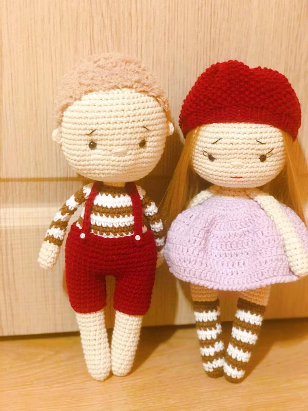 Вязаная кукла , кукла Тильда
