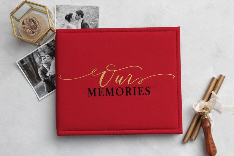 Красный семейный альбом, Подарок для девушки, Подарок для жены на годовщину свадьбы