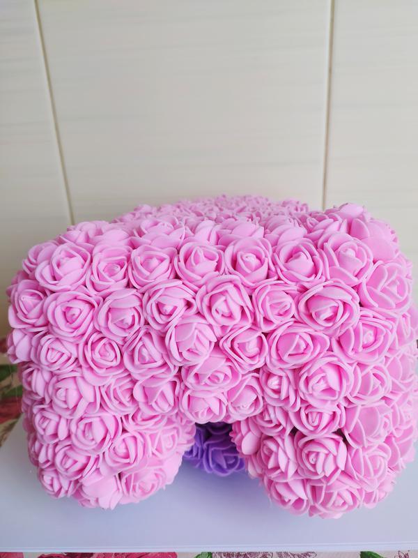 Мишка из роз с сердечком
