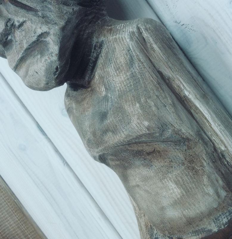 """Деревянная скульптура """"Дедушка"""""""