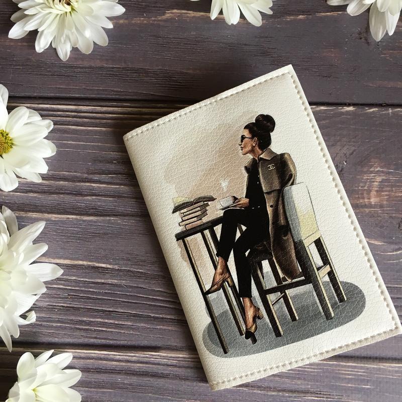 обложка на паспорт ручной работы для девушки