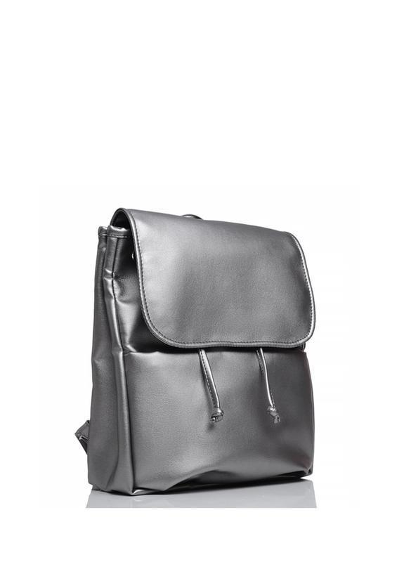 Женский серебристый рюкзак для учебы