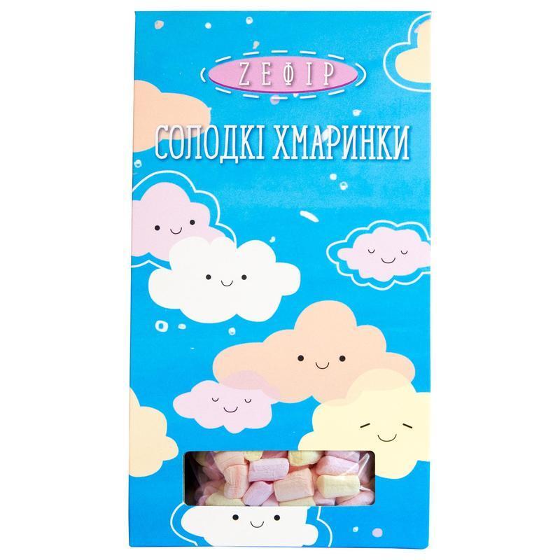 Зефир в коробке Солодкі хмаринки голубой