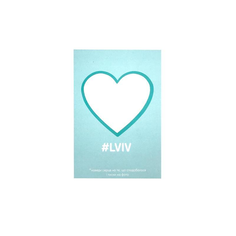 Открытка LVIV розовый