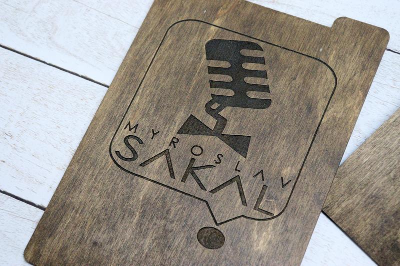 Планшетки деревянные  А5 с вашим лого