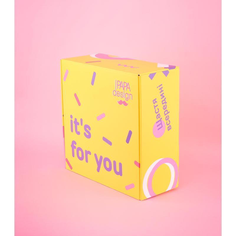 Подарочный BOX S Желто-розовый №12
