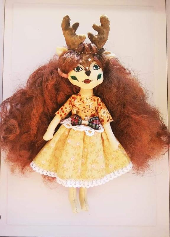 Кукла текстильная, оленяшка