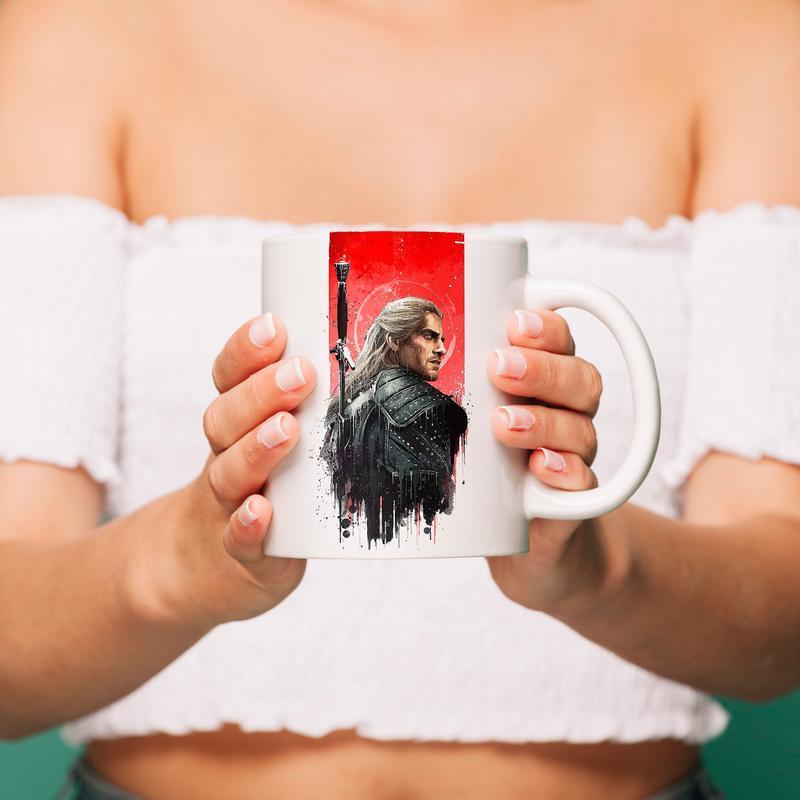 """Чашка с принтом """"Ведьмак"""""""