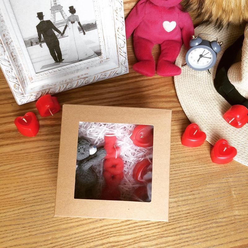 Набор романтических свечей ко дню Валентина