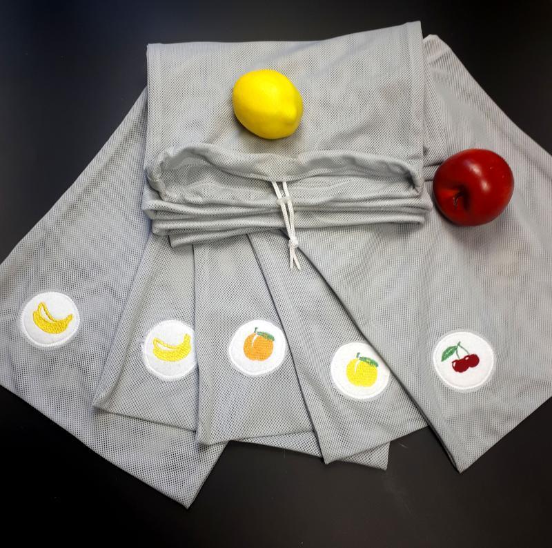 Эко-сеточка для продуктов, мешочек для покупок, вместо пакета /комплект 5шт/