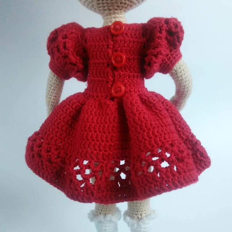 Кукла вязанная интерьерная, для активной игры