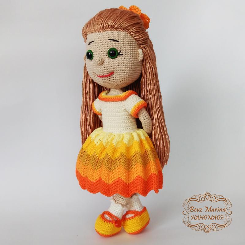 🌞SUNNY GIRL🌞 в'язана лялька, еко іграшка