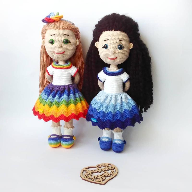 💦Aquamarine girl💦 В'язана лялька, еко іграшка