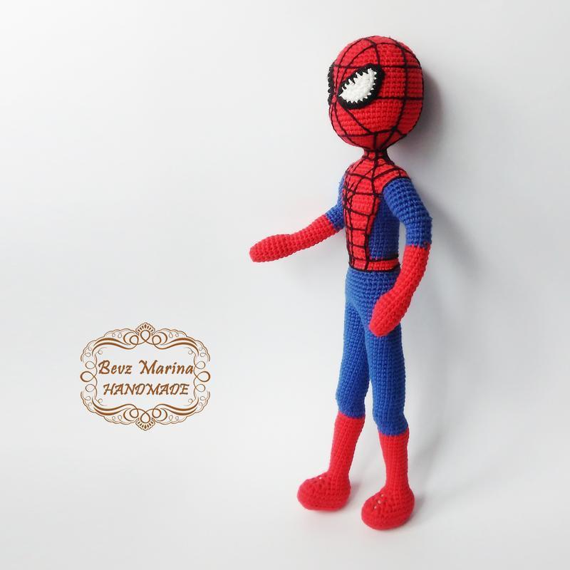 Spiderman вязаная игрушка