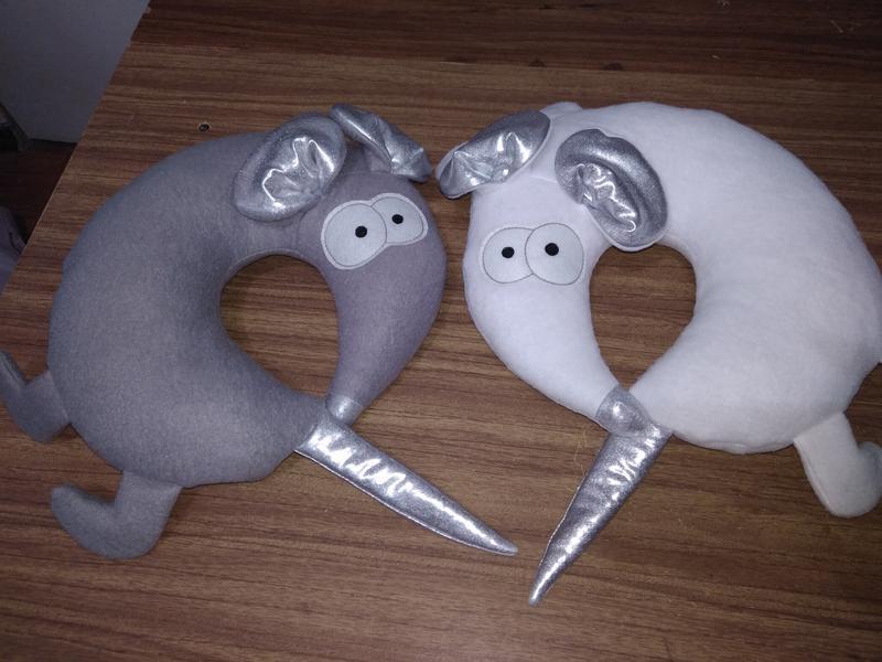 Мышь Белая и Серая и Полосатая, подушка игрушка, символ 2020 года