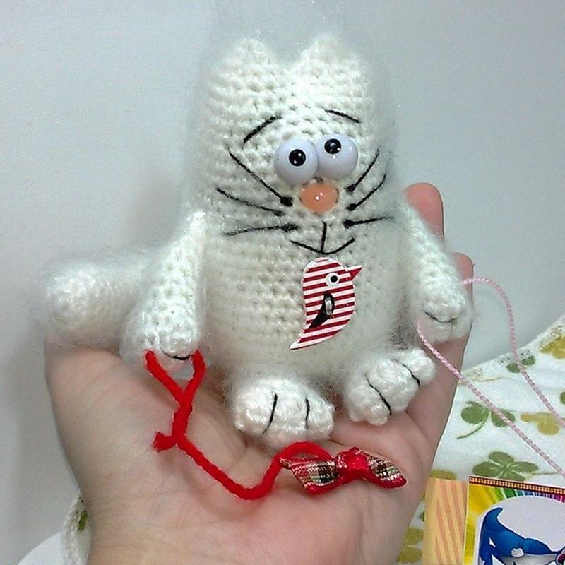 Новая Мягкая игрушка Prezzzent_ Котик с бантиком