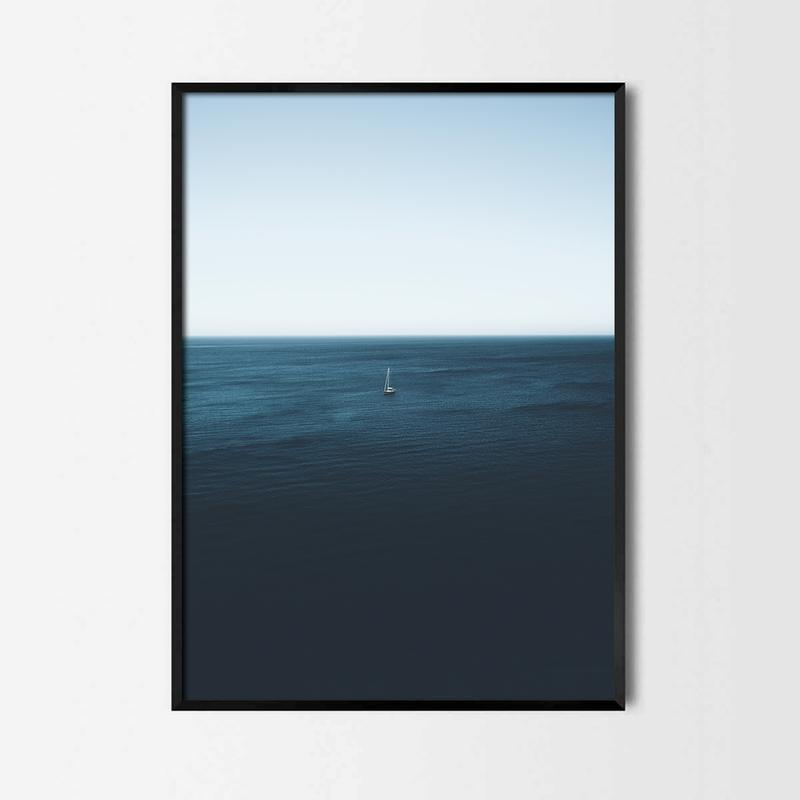 Фотопостер Яхта в море