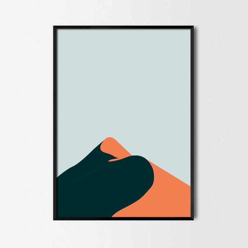 Графический постер Дюны