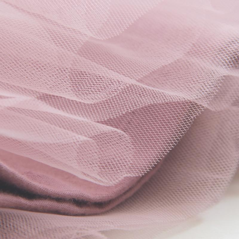 Спідниця фатиновая з бантиком, колір пудра.