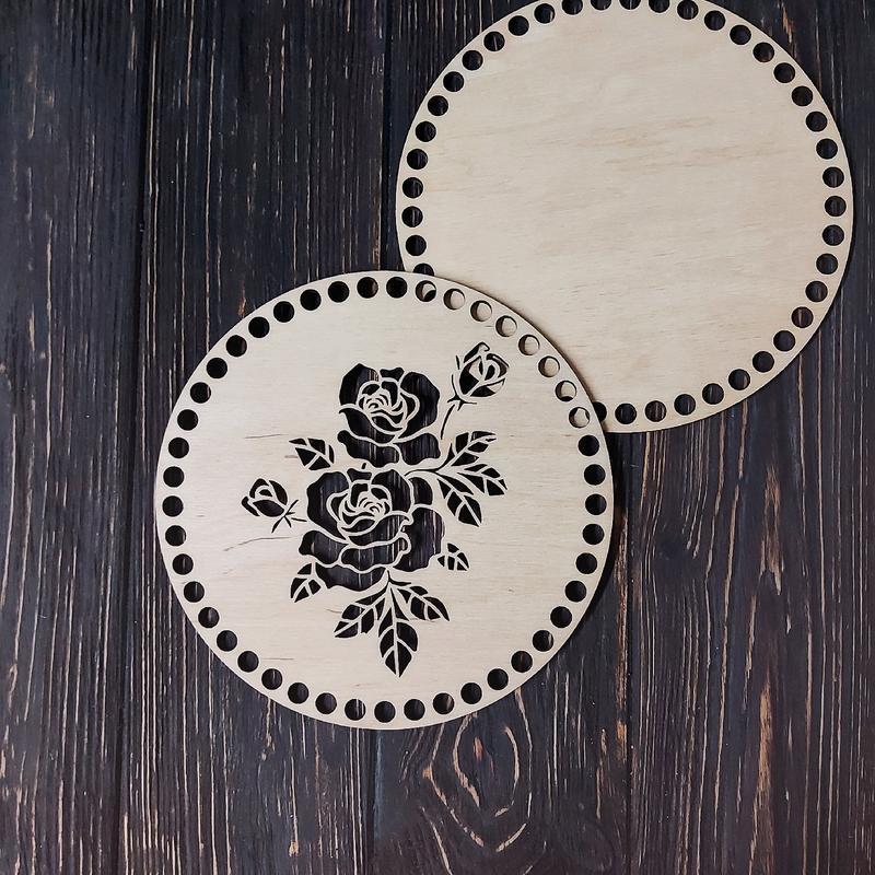 Комплект Роза Донышка и крышка для корзин
