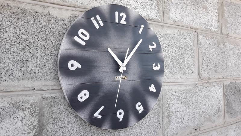 Большие круглые деревянные часы, настенные часы, уникальные настенные часы, деревянные часы