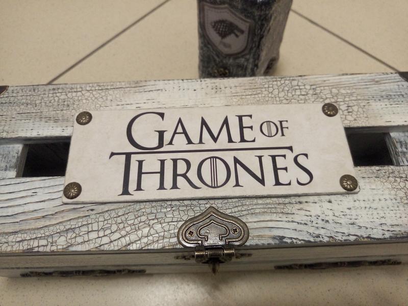 Ящик для вина Игры престолов герб старков