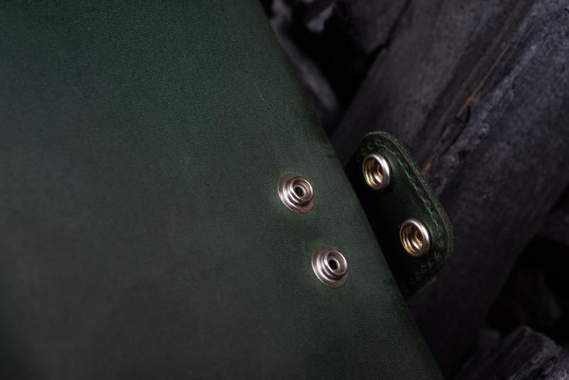 Мужское портмоне Аристократ из натуральной кожи с множеством отделений в зеленом цвете | 1_0058M_ART