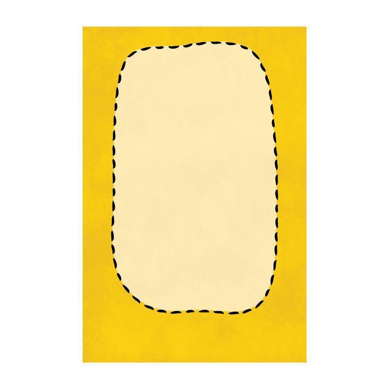 Открытка Люблю больше сисек желтый