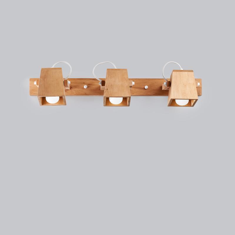 Светильник люстра потолочный настенный деревянный
