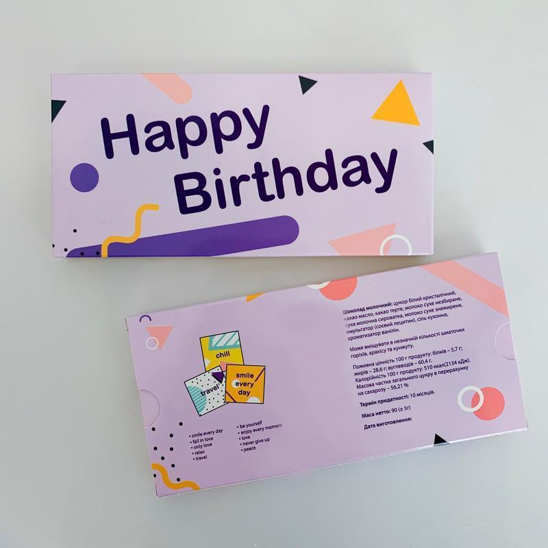 Шоколадный набор Small Happy Birthday! фиолетовый