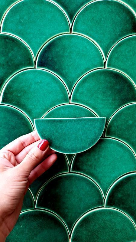 Плитка  Green Drop, Плитка Чешуйка