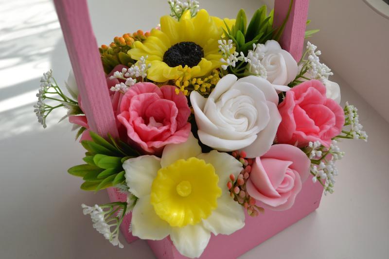 Цветы из мыла