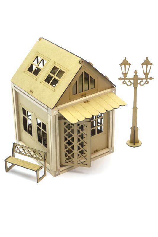 Деревянный магнитный конструктор Woodyco Дачный Домик (84 детали). WOODYCO Country House
