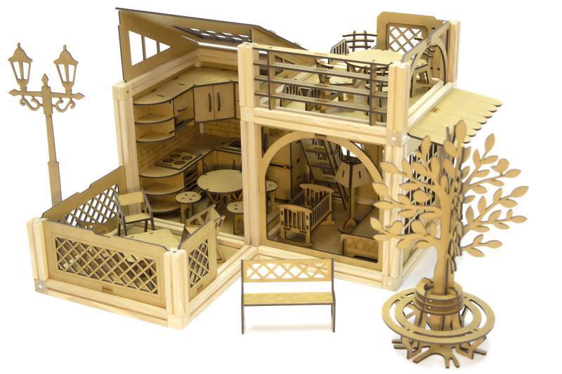 Деревянный магнитный конструктор Woodyco Медиум Игровая Площадка (277 деталей)