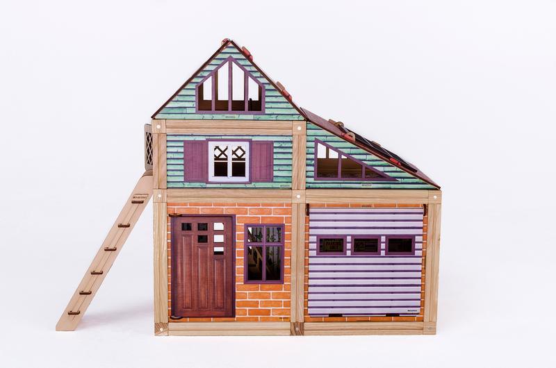 Деревянный магнитный конструктор Woodyco Медиум (109 деталей) Цветной. WOODYCO Medium