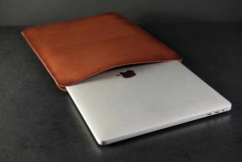 Чехол для MacBook Кожа Итальянский краст цвет Коричневый