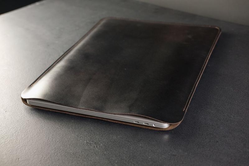 Чехол для MacBook Кожа Итальянский краст цвет Кофе