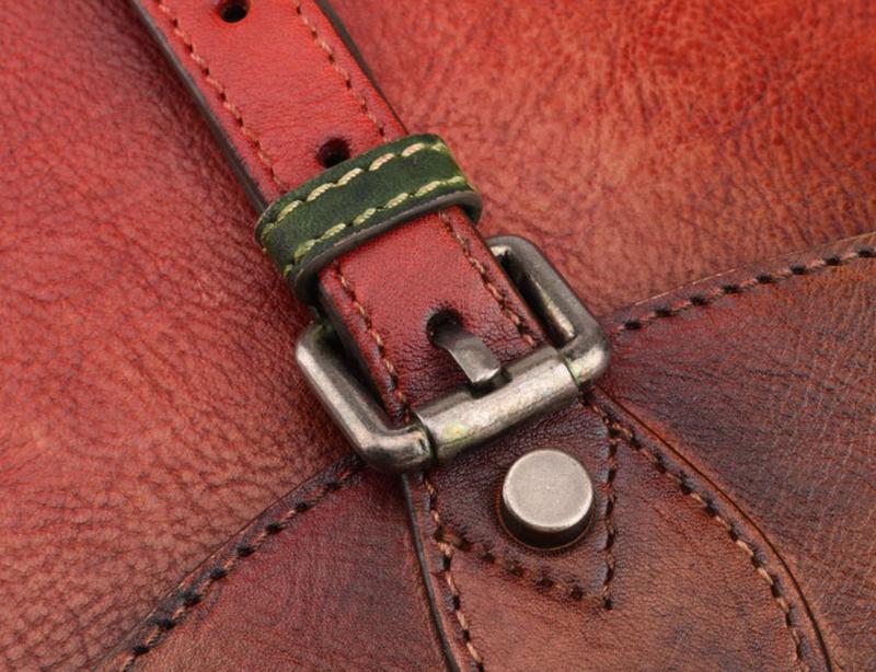 Кожаная женская сумка-ковш