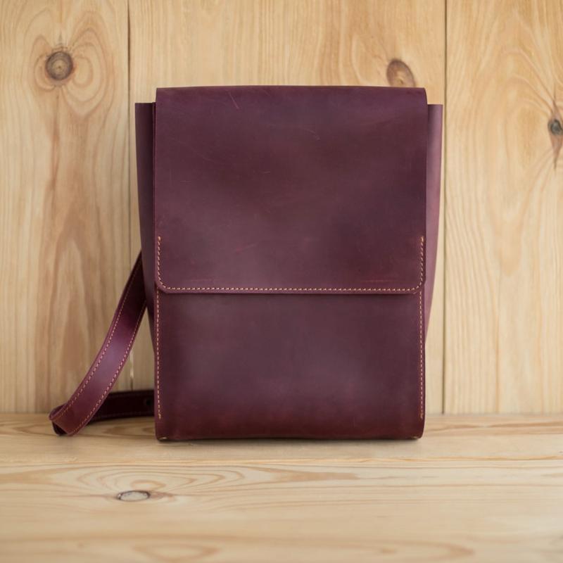 Рюкзак из натуральной кожи Brixie бордовый