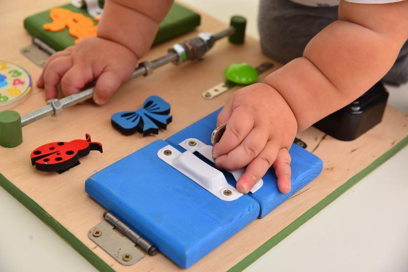 Бизиборд, Игрушка из дерева, Развивающая игрушка, Для малышей от 1 года