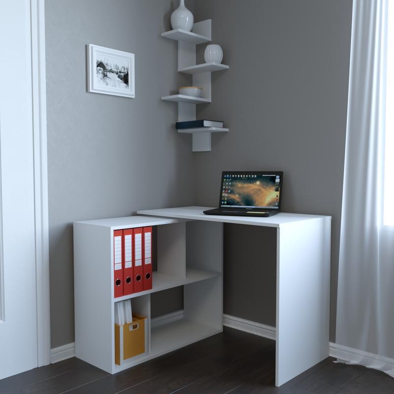 Стол письменный, поворотный, Белый Вt-310