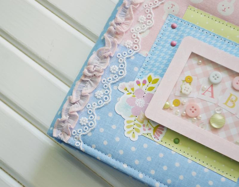 Альбом для девочки, розово-голубой беби-бук, фотоальбом на годик, альбом с зайцами