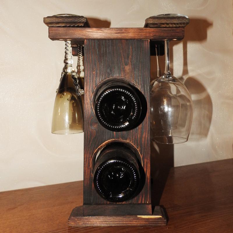 Подставка для вина и бокалов / стеллаж для хранения вина