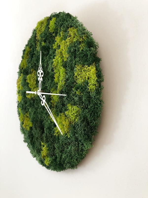 Настенные часы из стабилизированного мха 🕰