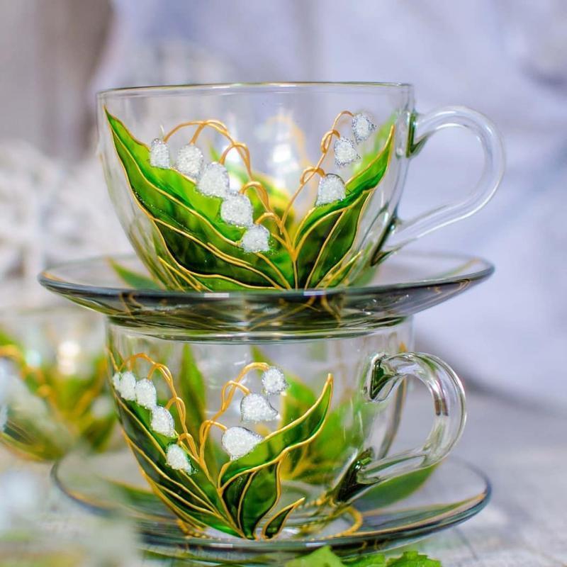 Чашки для чая ландыши
