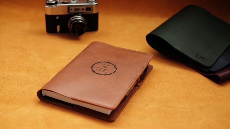 Кожаная обложка для ежедневника, блокнота, книги