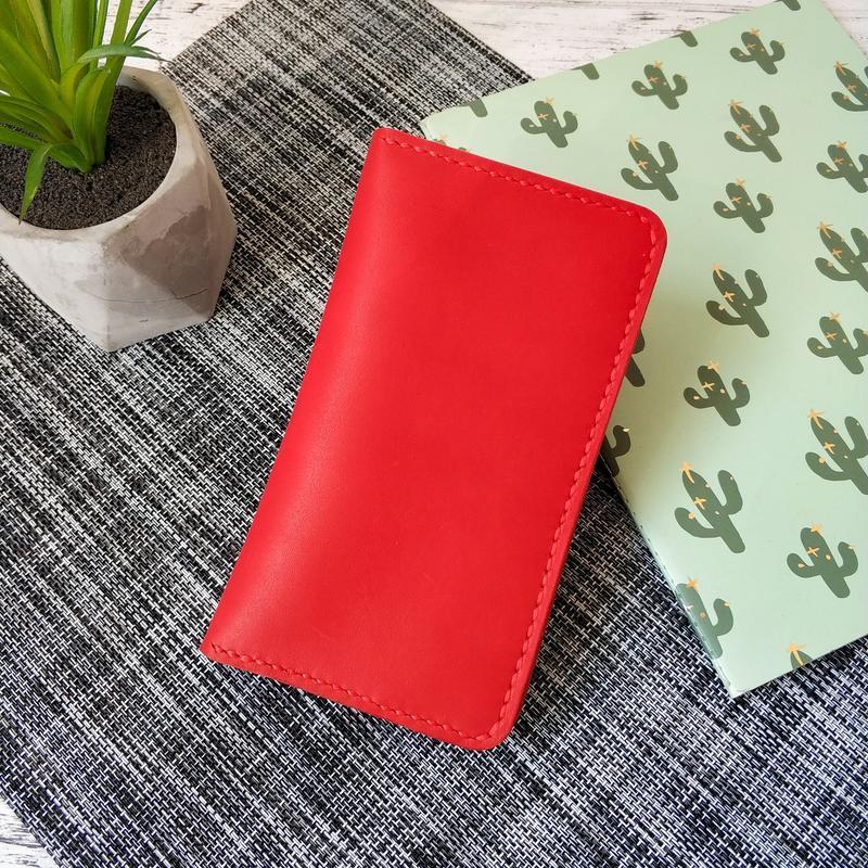 Бумажник Stedley Ostrek 2 кожаный красный