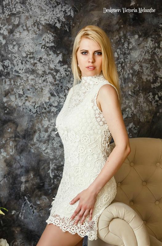 Коротке весільне плаття гачком