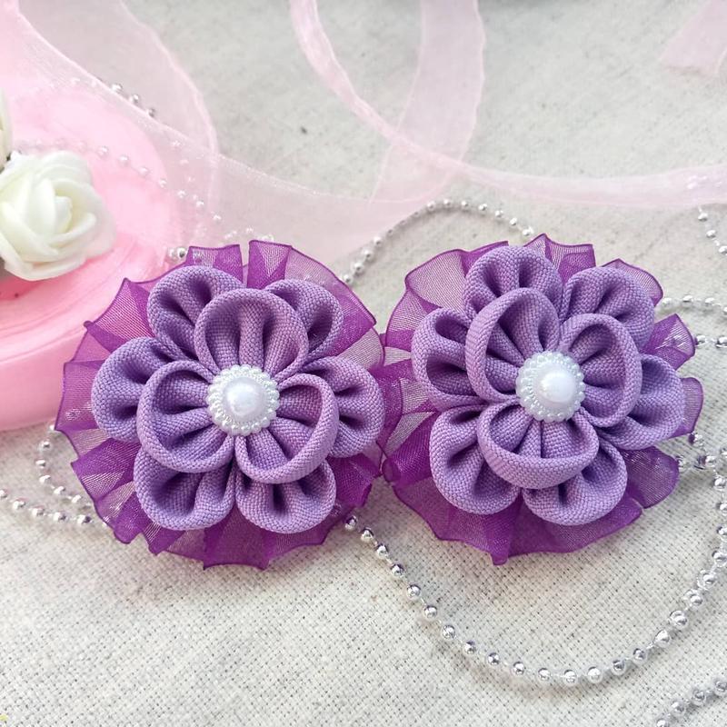 Для малышек малюсенькие цветочки-резиночки